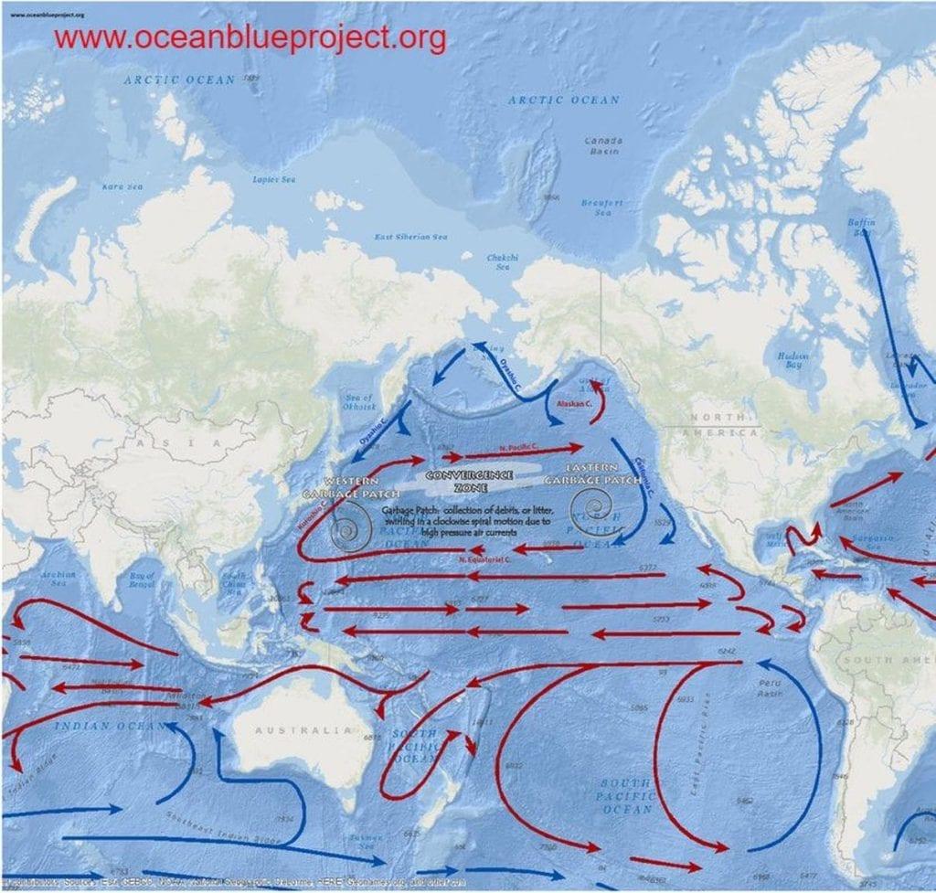 Ocean Garbage Patch Gyre Of The Pacific Ocean