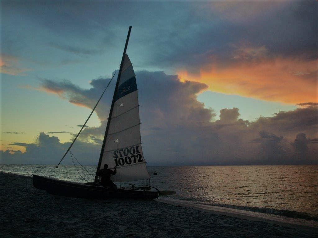hobie-cat-at-cayo-costa-state-park-at-sunset
